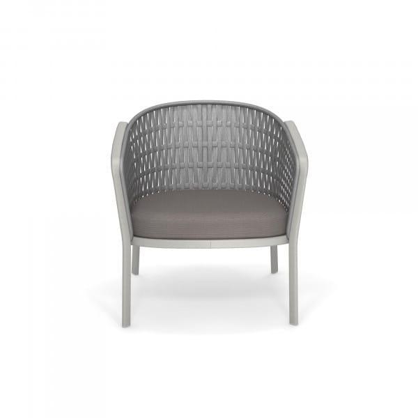 emu Carousel Loungesessel - 73-18 Zement - Grau Melange - frontal