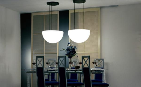 Moonlight Halbkugel Hängeleuchte MHH Weiß Ambiente Indoor Esstisch
