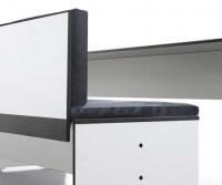conmoto Sitzbank mit Rückenlehne Riva Weiß