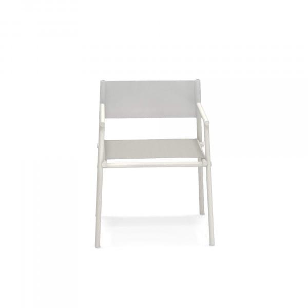 emu Outdoor Stuhl Terramare mit Armlehne - emu Outdoor Stuhl Terramare mit Armlehne - 23-200/92 Weiß - Hellgrau
