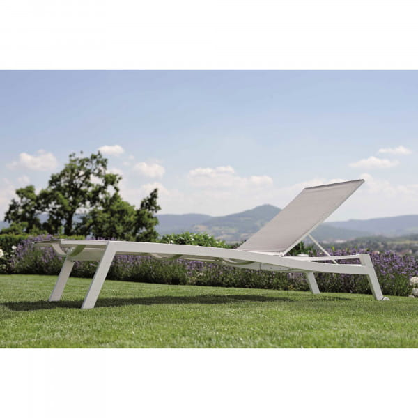 Stern Sonnenliege Allround - Weiß / Silber, Ambiente