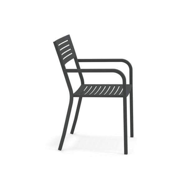 emu Outdoor Stuhl Segno (mit Armlehne) - 22 Antikeisen