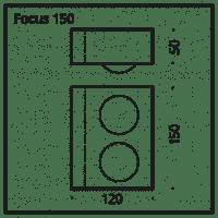 Wandleuchte Focus 150 LED