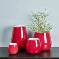 Windlicht Vase Pisano von Lambert verschiedene Größen - Rot