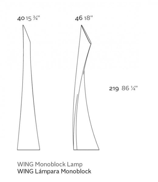Akku-LED-Stehleuchte Wing