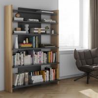 Temahome Bücherregal Niko - Eiche / Schwarz, Ambiente