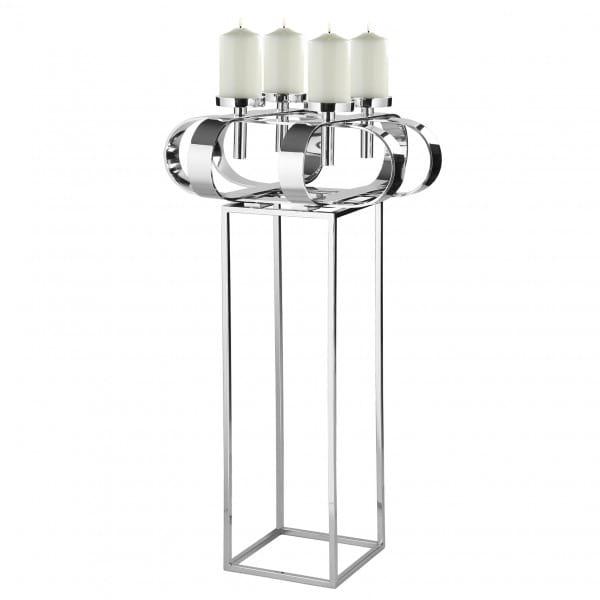 Fink Living Ständer mit Deko-Kranz Gorden 49 cm und Kerzen