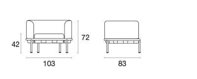 emu Loungesessel Dock - Maße