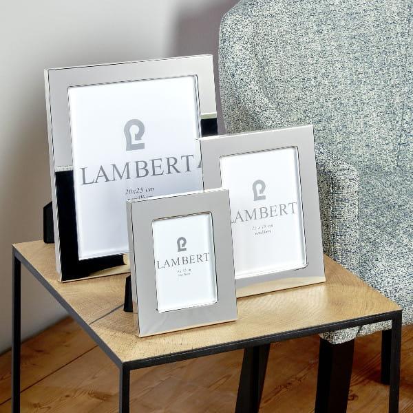 Lambert Bilderrahmen Savannah versilbert - 4 Größen