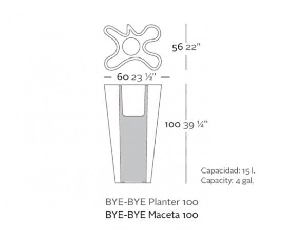 Pflanzgefäß Bye Bye - 100 cm