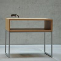 Jan Kurtz Nachttisch Dina mit Ablagefach aus Holzfurnier/ Stahlgestell