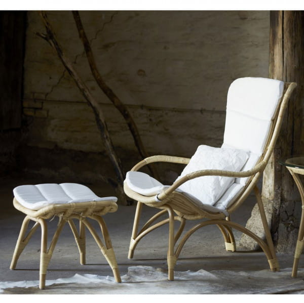 Sika Design Sessel Monet Rattan Natur mit Kissen