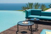 emu Dock Kollektion - Ambiente Beispiel 5 - Gestellfarbe Schwarz mit Polsterfarbe Türkis