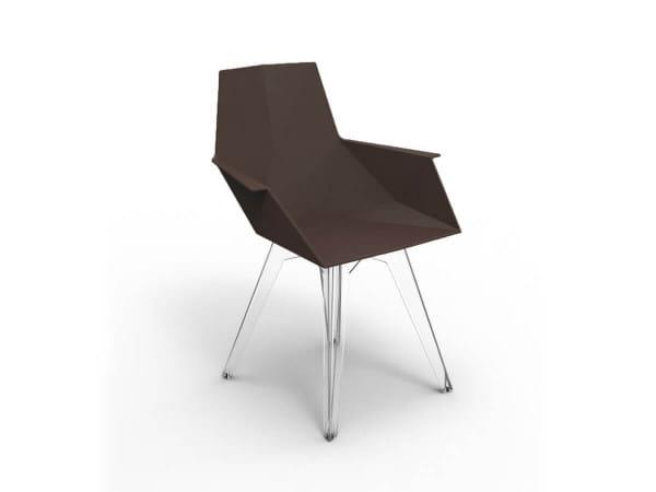 Design Stuhl Faz PC - schwarz