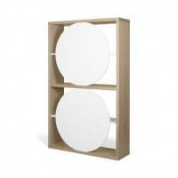 Temahome Designregal Zero - helle Eiche / Weiß, Rückseite