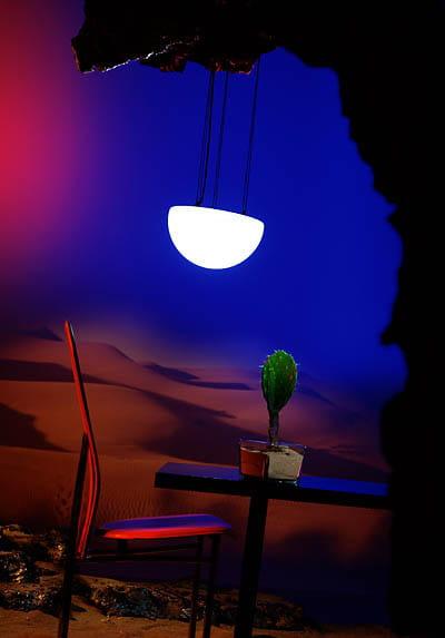 Moonlight Halbkugel Hängeleuchte MHH Weiß Ambiente Outdoor Kaktus