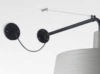 Soho 38 A LED (Outdoor IP44) Steingrau Detail Befestigung