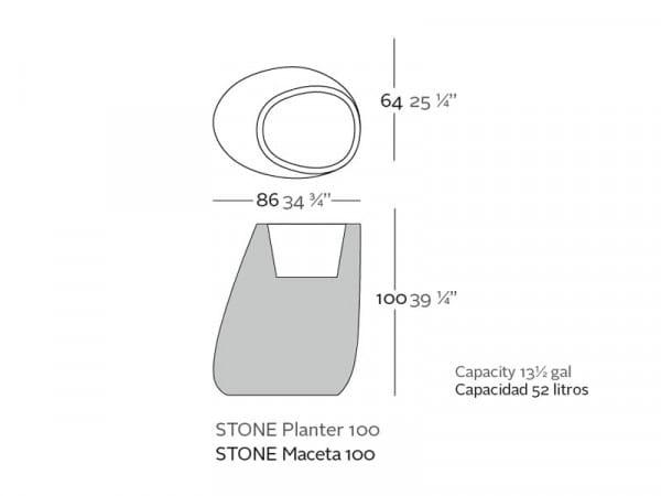 Pflanzgefäß Stone M