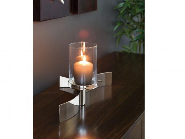 Fink Living Stumpenhalter Melody mit Glas - 1-flammig, Ambiente