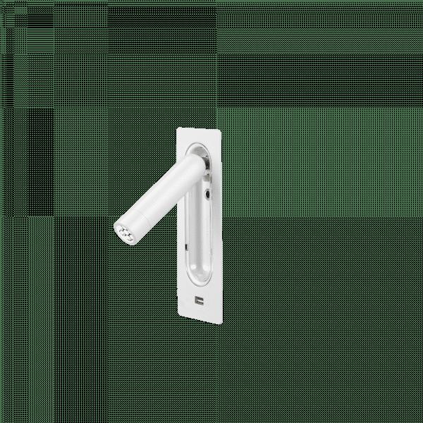 marset Wandleuchte Ledtube RSC USB Weiß cut-out
