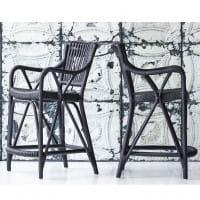 Sika Design Originals Barhocker Blues Rattan Mattschwarz
