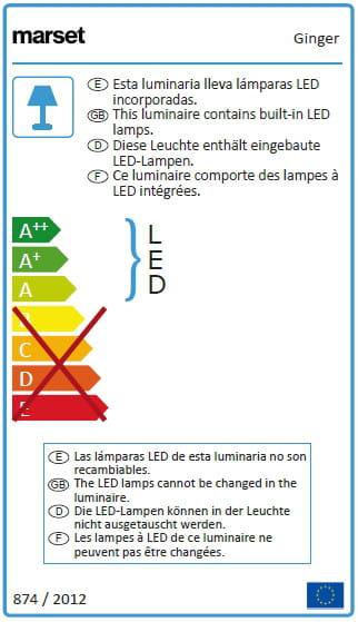 marset Wandeleuchte LED Ginger A Energieverbrauch