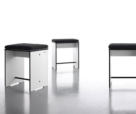 conmoto Design Hocker / Beistelltisch Riva Weiß