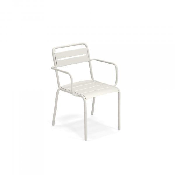 emu Outdoor Gartenstuhl Star (mit Armlehne) - 23 Weiß
