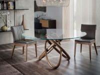 Runder Glas-Tisch Carioca