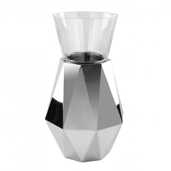 Fink Living Dekosäule Diamond - 50 cm hoch mit Glaseinsatz
