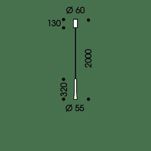 LED Pendelleuchte Rio (Solitär)