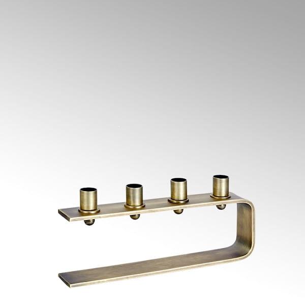 Lambert Antares  Kerzenständer bronze H 14 cm 31x5,5 cm