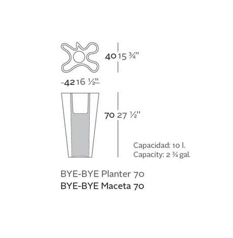 Pflanzgefäß Bye Bye - 70cm