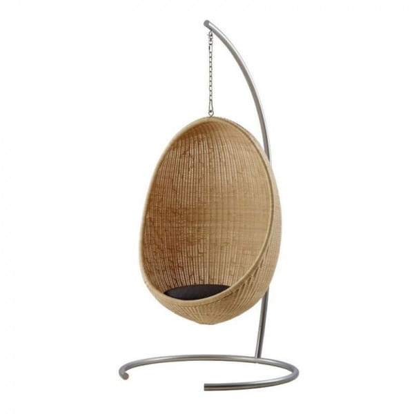 Sika Design Icons Hanging Egg aus Rattan Natur - Standfuß