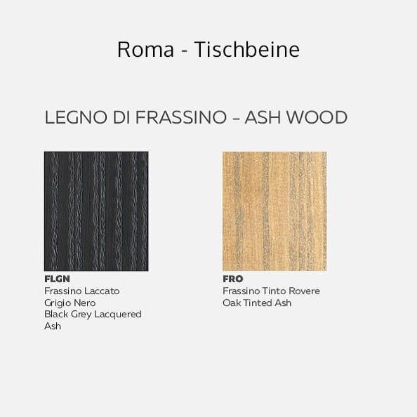 Italienischer Design Esstisch Roma Glas