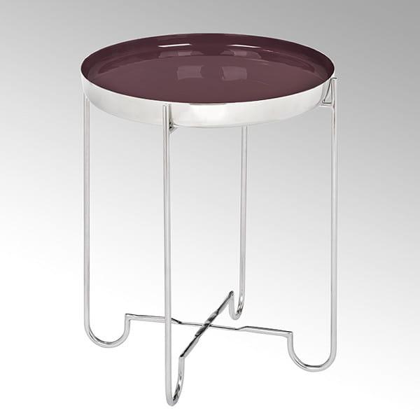 Lambert Tablett rund Malmö - Barolo - Durchmesser 40 cm - mit Tischgestell