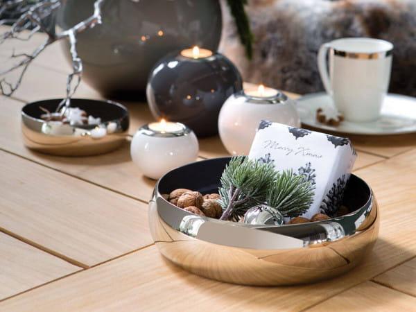 Fink Living Schale Mayla - Grau / Silber, Ambiente