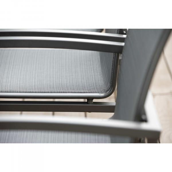 Stern Stapelsessel Skelby - Anthrazit / Karbon, Sitzdetail