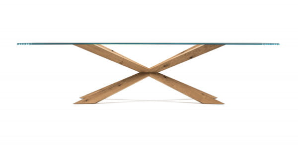 Glas-Esstisch Spyder - rechteckig