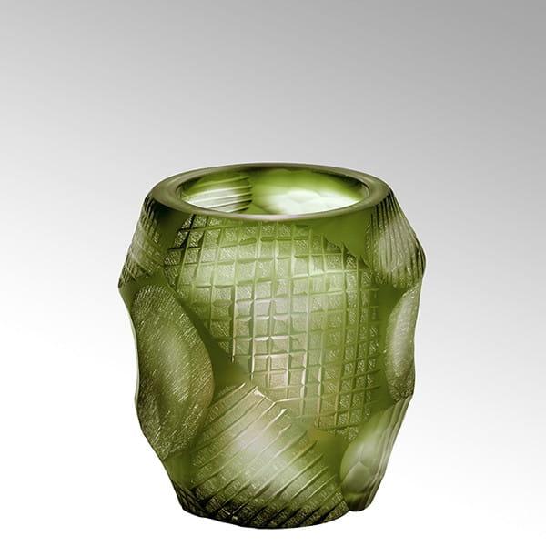 Teelicht Silvestro von Lambert Oliv - Höhe 8 cm