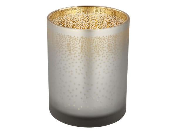 Teelichthalter Talin - grau/gold