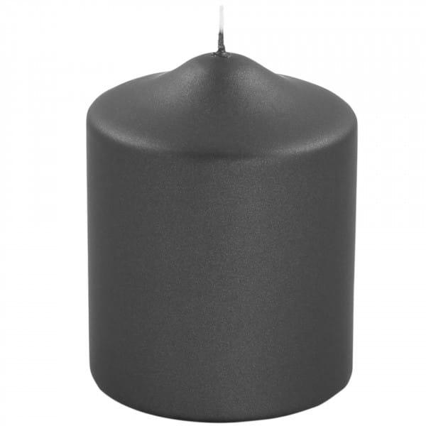 Fink Living Stumpenkerze Candle - 10 cm hoch, Schwarz metallic