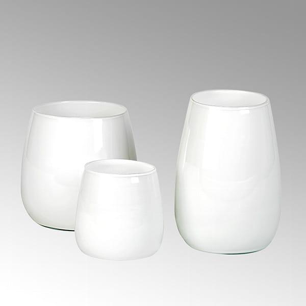 Vase Pisano von Lambert verschiedene Größen - Weiß