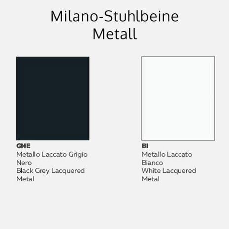 Italienischer Design Stuhl Milano - Metall