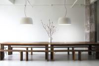 marset Pendelleuchte LED Djembe Weiß Ambiente Tisch