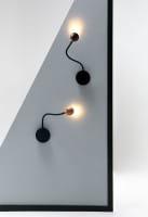 marset Wandleuchte LED No8 Eiche und Wenge Ambiente 2