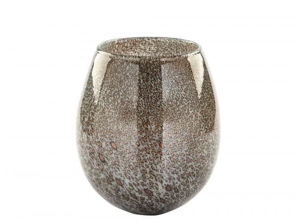 Fink Living Vase/Windlicht Silva - Grau, 17,5 cm hoch