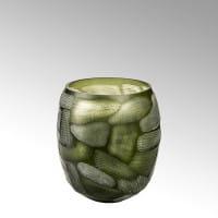 Vase Silvestro von Lambert Oliv - Höhe 29 cm