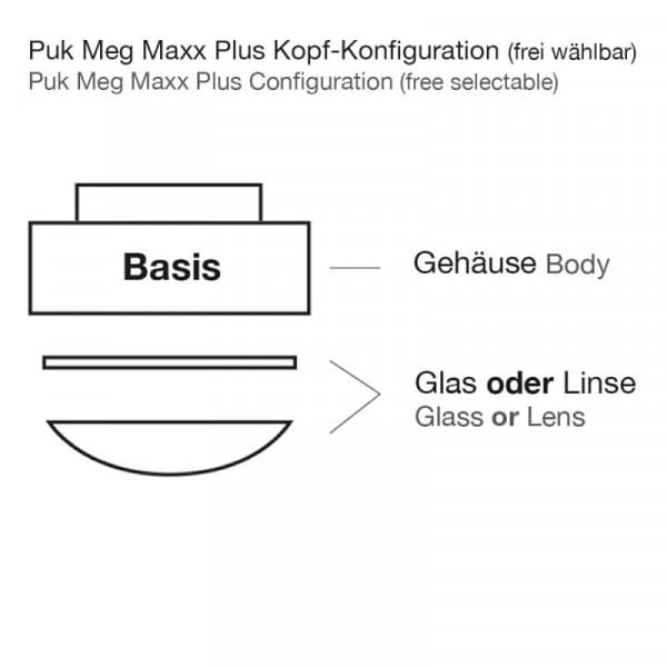 Deckenleuchte Puk Meg Maxx Plus LED