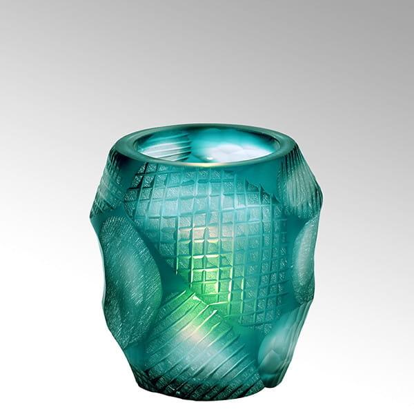 Teelicht Silvestro von Lambert Petrol - Höhe 8 cm